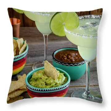 Throw Pillow featuring the photograph Margarita Party by Teri Virbickis