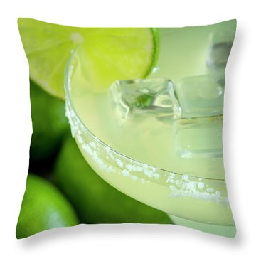 Throw Pillow featuring the photograph Margaritas Anyone by Teri Virbickis