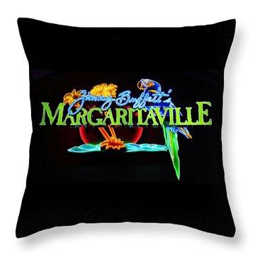Margaritaville Neon Throw Pillow