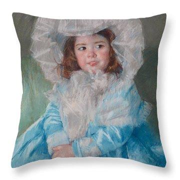 Margot Lefebre In Blue Throw Pillow