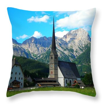 Maria Alm Am Steinernen Meer Throw Pillow