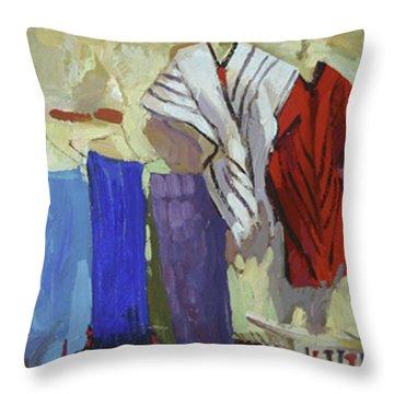 Maria Francesco's Weavings Throw Pillow