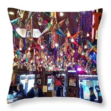 Mariachi Bar In San Antonio Throw Pillow