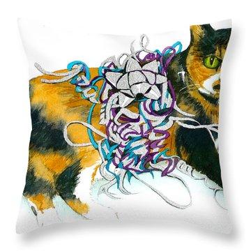 Throw Pillow featuring the painting Mariah 1995-2009 by Lynn Babineau