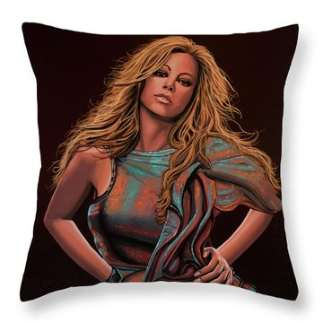 Mariah Carey Painting Throw Pillow