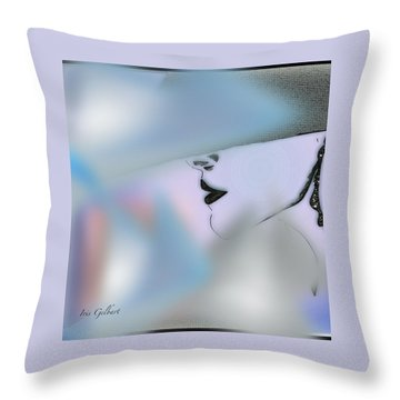 Marion Abby Throw Pillow by Iris Gelbart