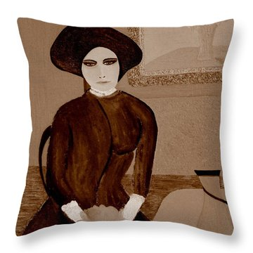 Marianne Waiting Throw Pillow