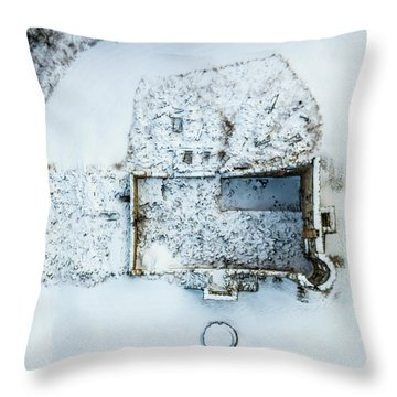 Throw Pillow featuring the photograph Maribel Caves Hotel Straight Down by Randy Scherkenbach
