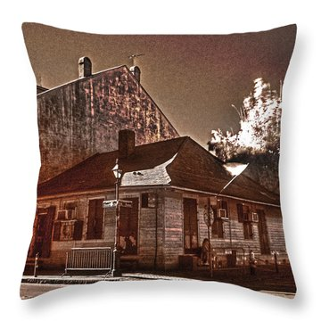 Marie Laveau's Throw Pillow by William Fields