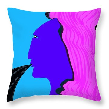 Marie Speaks Throw Pillow