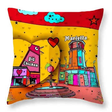 Marietta Popart 2018 By Nico Bielow  Throw Pillow