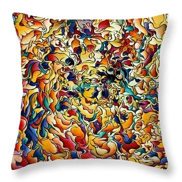Marigold Festival Throw Pillow