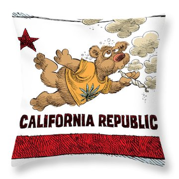 Marijuana Referendum In California Throw Pillow