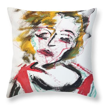 Marilyn Abstract Throw Pillow