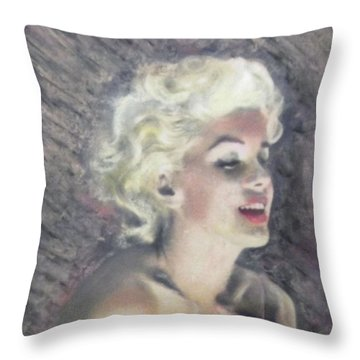 Marilyn And The Joy Of Chanel Throw Pillow