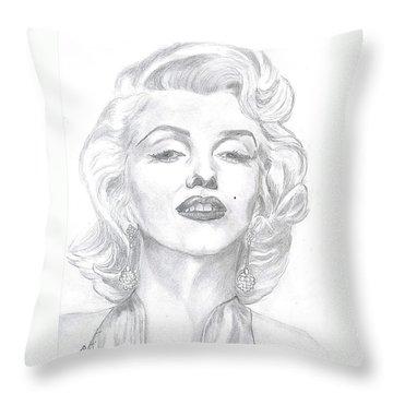 Marilyn  Throw Pillow by Carol Wisniewski