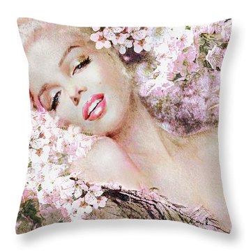 Marilyn Cherry Blossom B Throw Pillow