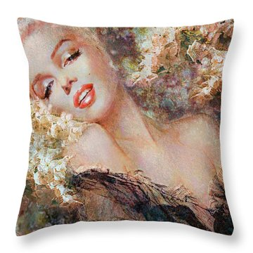 Marilyn Cherry Blossom Throw Pillow