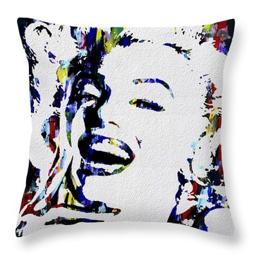 Marilyn Monroe Abstract Painting Throw Pillow
