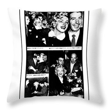 Marilyn Monroe And Joe Dimaggio 1950s Photos By Unknown Japanese Photographer Throw Pillow