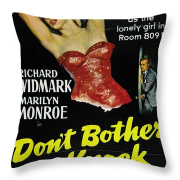 Marilyn Monroe And Richard Widmark In Don't Bother To Knock Throw Pillow