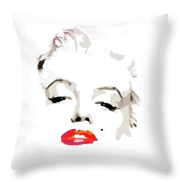 Marilyn Monroe Minimalist Throw Pillow