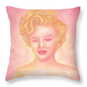 Marilyn Monroe Throw Pillow by Cassandra Geernaert
