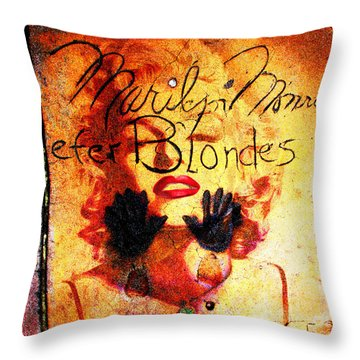 Throw Pillow featuring the photograph Marilyn Monroe Gentlemen Prefer Blondes 20160105 by Wingsdomain Art and Photography