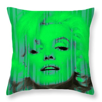 Marilyn Monroe In Green Throw Pillow