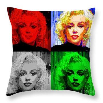 Marilyn Monroe - Quad. Pop Art Throw Pillow