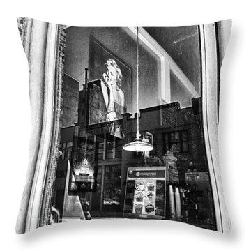 Marilyn Through The Window Throw Pillow