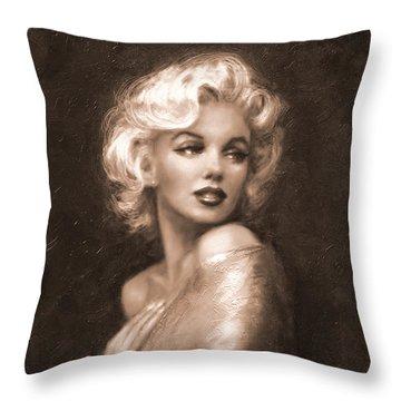 Marilyn Ww Sepia Throw Pillow