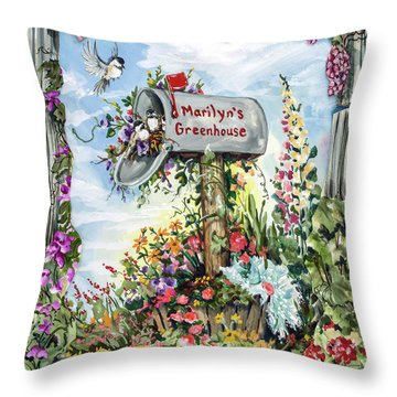 Marilyn's Greenhouse Throw Pillow