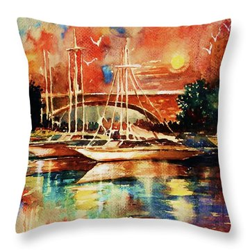 Marina Throw Pillow by Al Brown