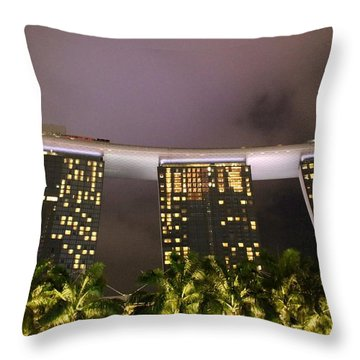 Marina Bay Sands Throw Pillow by Diane Height
