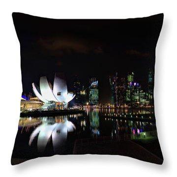 Marina Bay Sands Throw Pillow