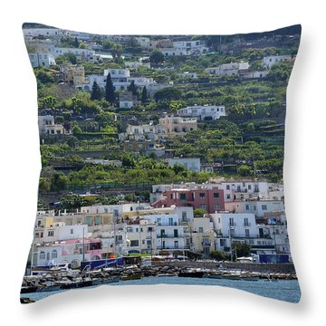 Marina Grande, Isle Of Capri Throw Pillow