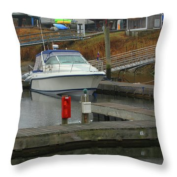 Marina In The Spring Throw Pillow by Karol Livote