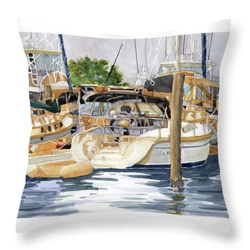 Marina Matrix Throw Pillow