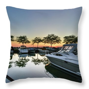 Marina Morning Throw Pillow