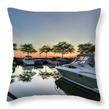 Marina Morning Throw Pillow