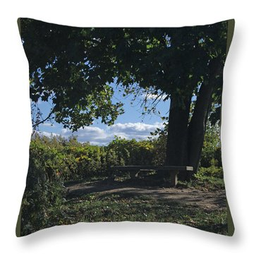 Marina Point Landing Throw Pillow