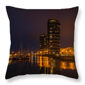 Throw Pillow featuring the photograph Marina by Ryan Photography