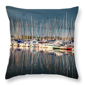 Marina Sunset 4 Throw Pillow