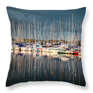 Marina Sunset 4 Throw Pillow