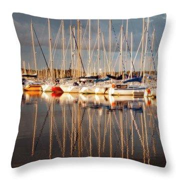 Marina Sunset 6 Throw Pillow