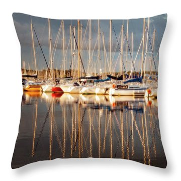 Marina Sunset 6 Throw Pillow