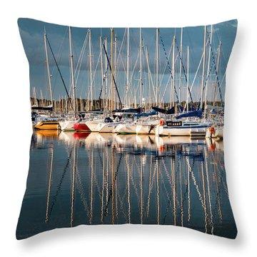 Marina Sunset 7 Throw Pillow