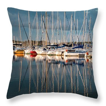 Marina Sunset 7 Throw Pillow