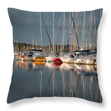 Marina Sunset 8 Throw Pillow